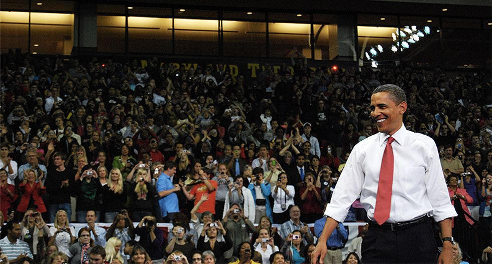 WATCH: President Barack Obama takes the stage at Chicago 'get out the vote' rally