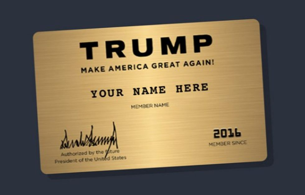 The internet hilariously brutalizes Trump's tacky new fundraising gimmick – gold 'membership' cards