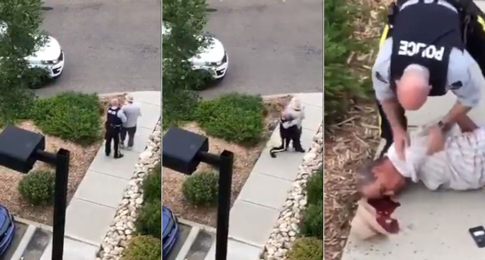 WATCH: Non-resisting man hits head on concrete after cop body slams him -- and then kneels on his neck