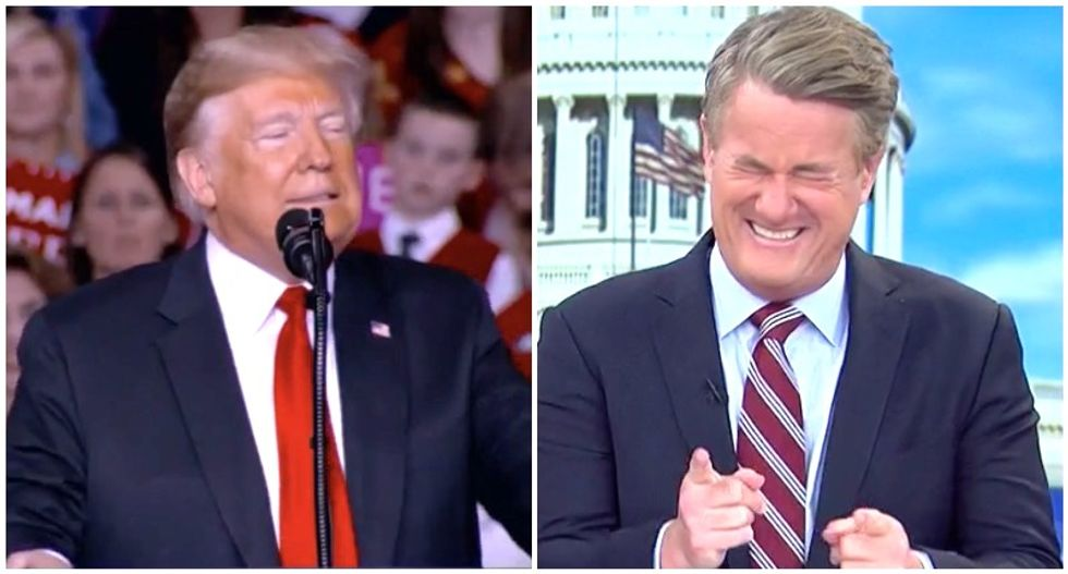 Morning Joe hoots with laughter at Trump's 'crazy' call for bikers to beat up Antifa activists