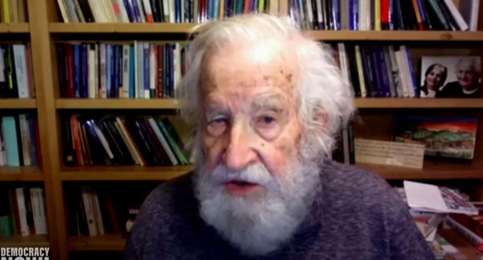 'Flailing around wildly': Noam Chomsky responds to Trump bragging he aced a dementia test