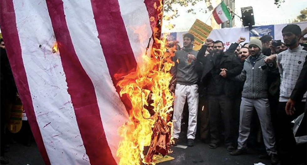 Iranian marchers chant 'death to America' on eve of Trump's oil sanctions