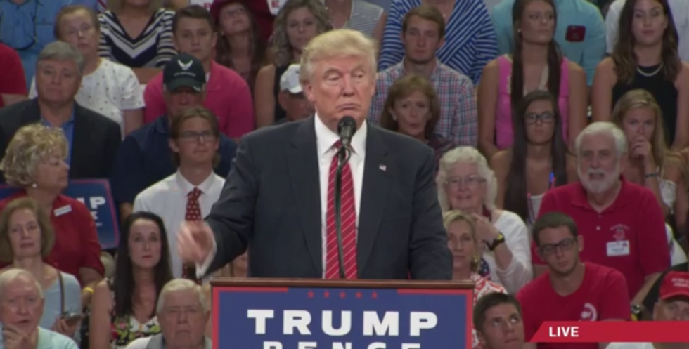 WATCH: Trump darkly hints that 'the Second Amendment people' can stop Hillary from picking judges