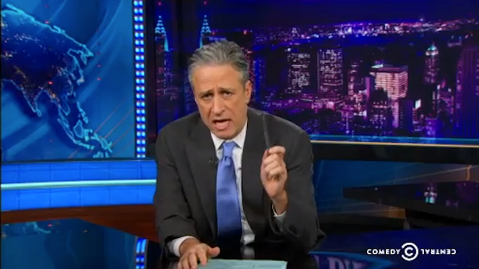 Jon Stewart: Fox News to blame for 'apocalyptic paranoia' that fueled anti-LGBT Arizona bill