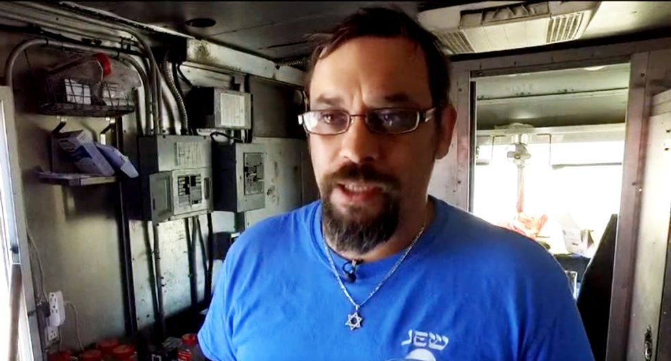 Jewish man's food truck attacked and ransacked in Austin -- and vandal leaves behind Nazi paraphernalia
