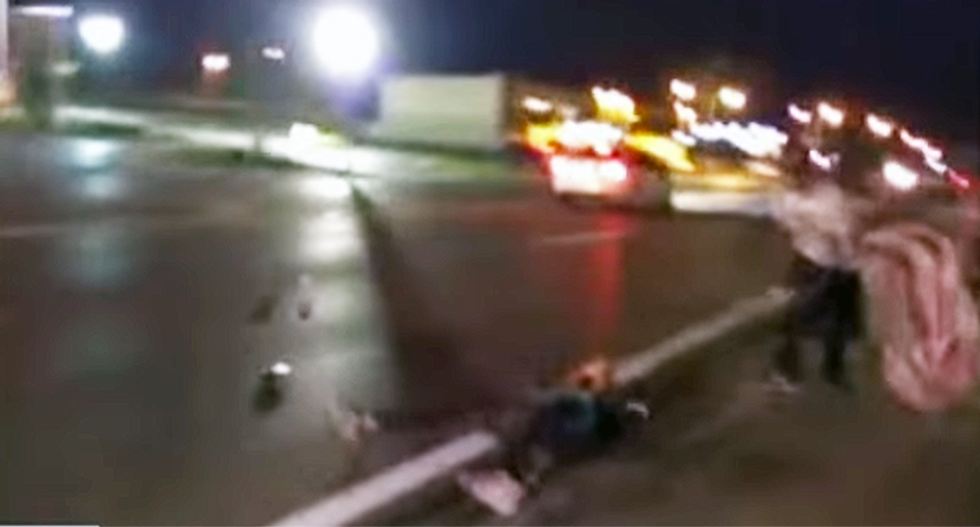 WATCH: Terrifying video of car slamming into #BlackLivesMatter protester in Ferguson