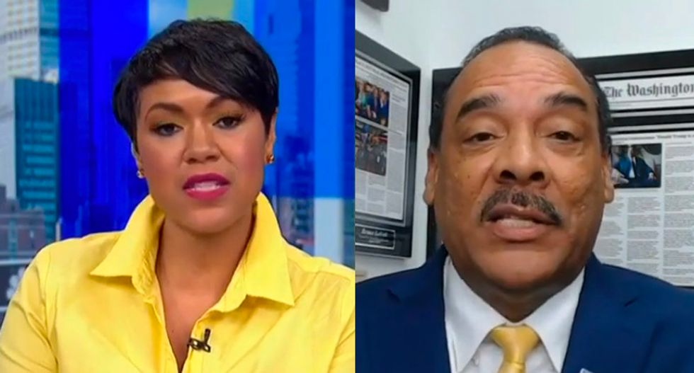 Trump ally fact-checked on MSNBC after boasting president has helped Black Americans