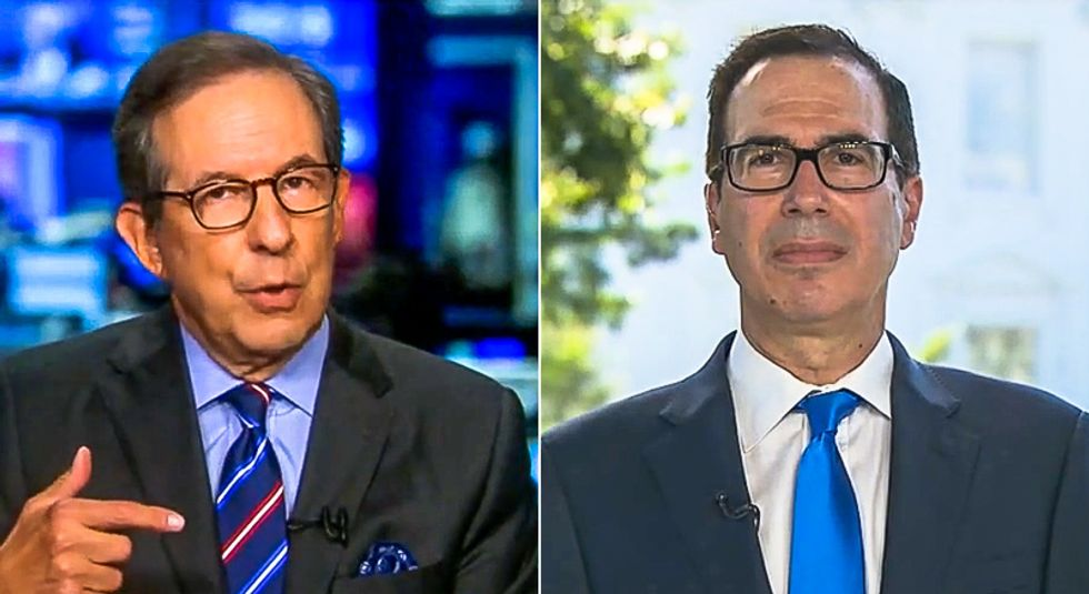 Chris Wallace shuts down Steve Mnuchin's lies on new stimulus bill: 'Republicans rejected this'