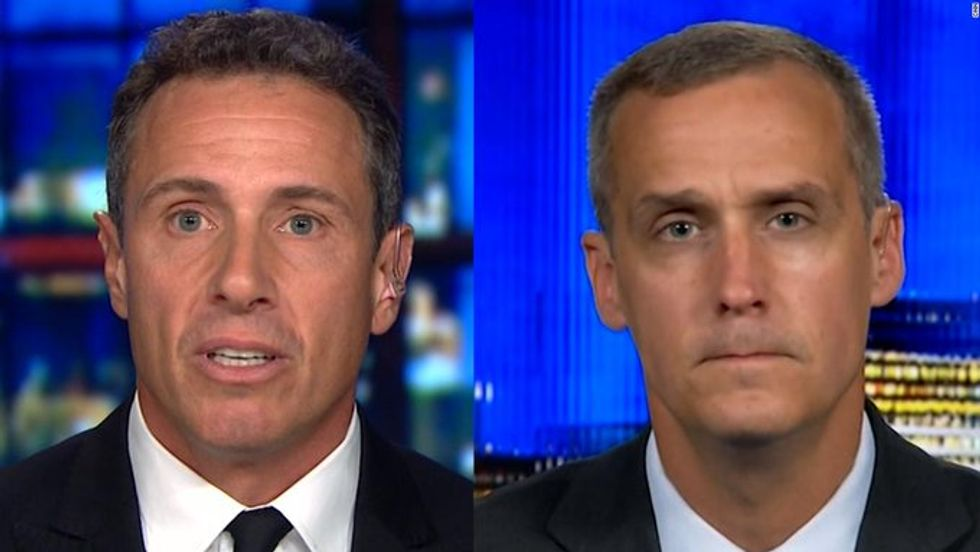 WATCH: CNN's Chris Cuomo hammers former Trump campaign manager Corey Lewandowski on the president's racism