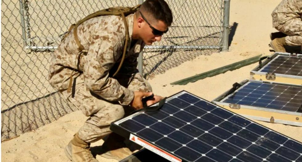 How solar power can protect the US military from threats to the electric grid