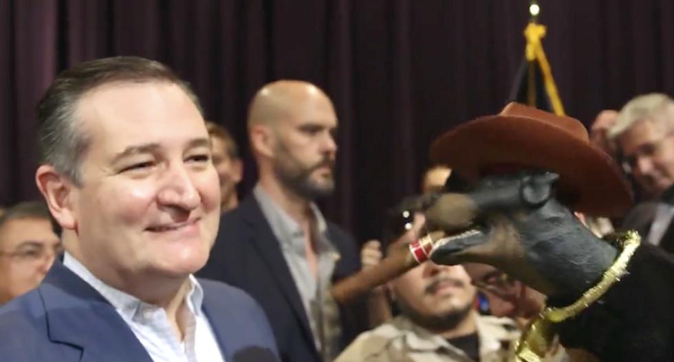 WATCH: Triumph the Insult Comic Dog mocks Ted Cruz for letting Trump 'neuter' him