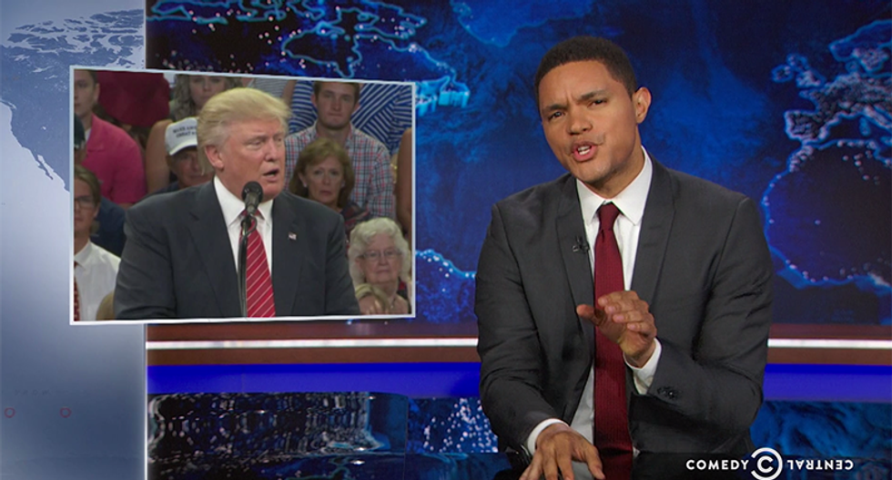Trevor Noah slams 'dangerous' Trump: He 'rides the wave of crazy and sees where it takes him'