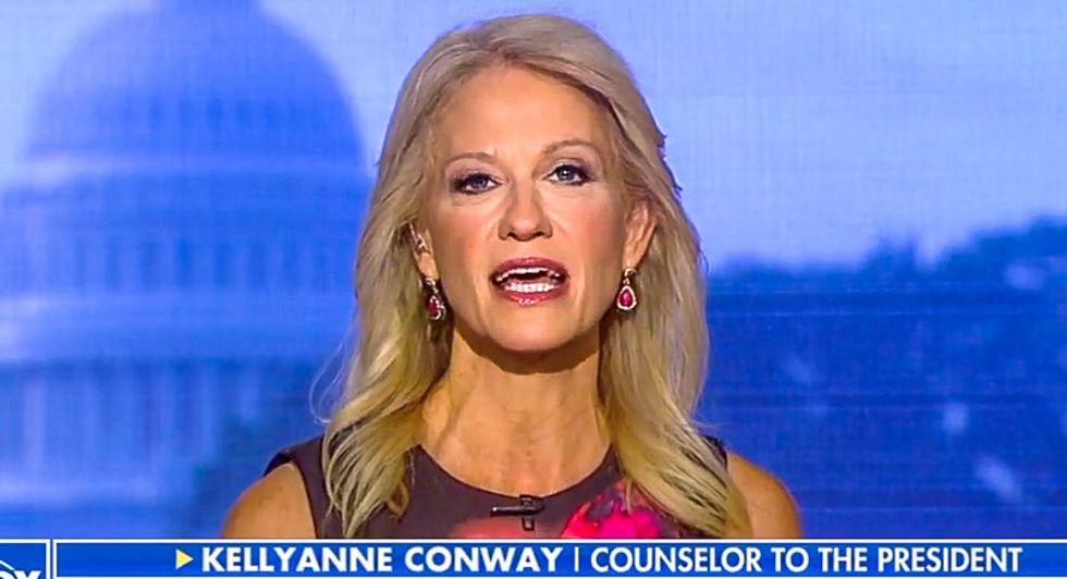 Kellyanne Conway has a temper tantrum after Fox News host calls out her bogus Biden attack