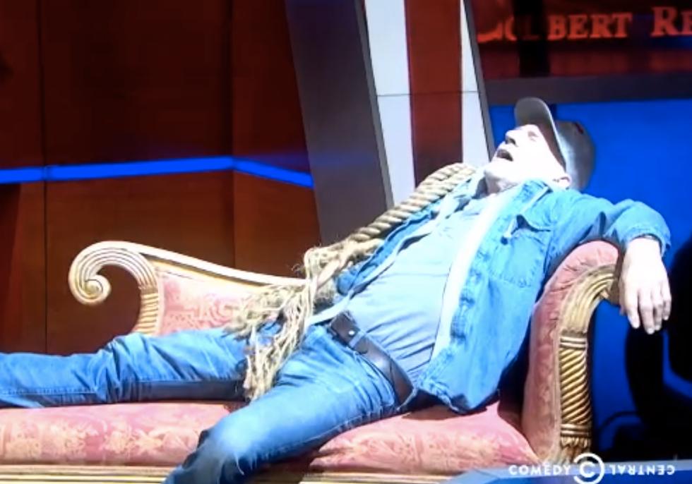 Patrick Stewart performs Shakespearean death scene to help Stephen Colbert fight Obamacare
