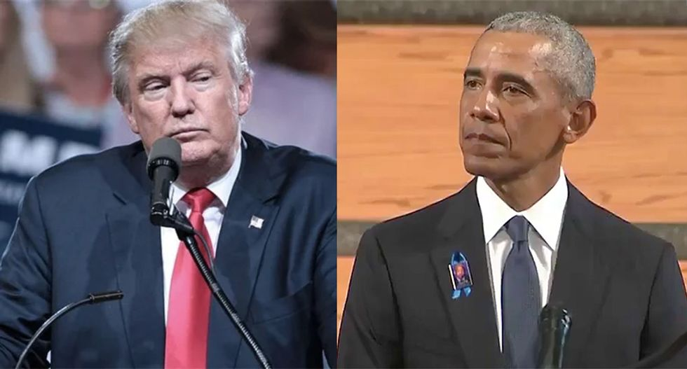 'Crazy uncle' Trump triggered by Obama -- goes on Breitbart retweeting spree