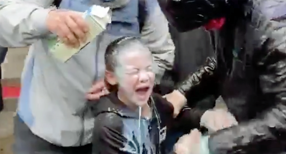 'Stop it! Stop it': Shocking video shows young girl in Seattle crying after reportedly being maced by police