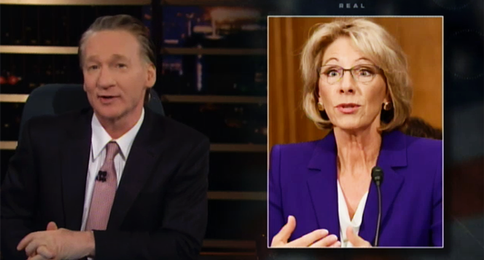 Maher slams Trump's Education pick: Putting DeVos in charge 'is like putting Ellen in charge of d*ck'
