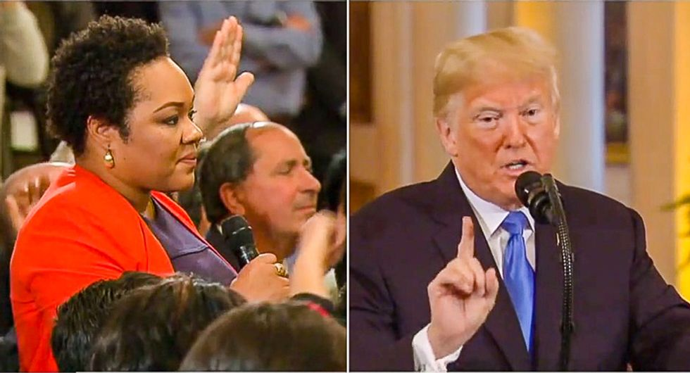 Trump tells black reporter she's 'racist' for asking him to renounce white nationalism