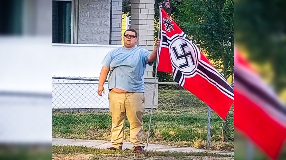 'A symbol of incels': Internet destroys Idaho man for standing near Air Force tribute with Nazi flag