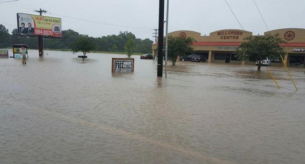 President Barack Obama declared Louisiana a disaster after floods killed five