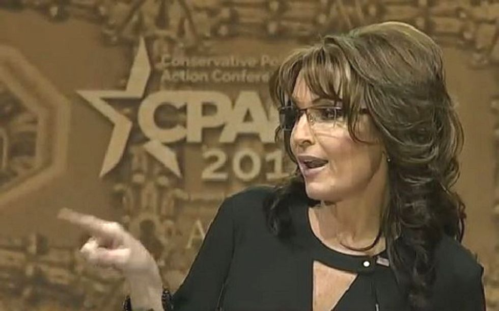 Sarah Palin uses her CPAC speech for a shout-out to the libs at 'MS-LSD'