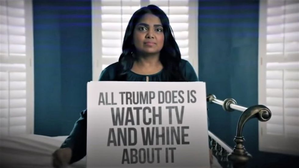 Anti-Trump Republicans take the president's newest campaign ad and throw it back in his face