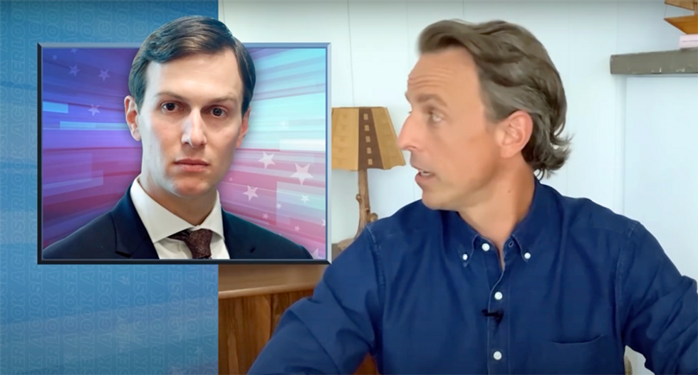 WATCH: Seth Meyers goes after 'sociopath' Jared Kushner for America's coronavirus failures