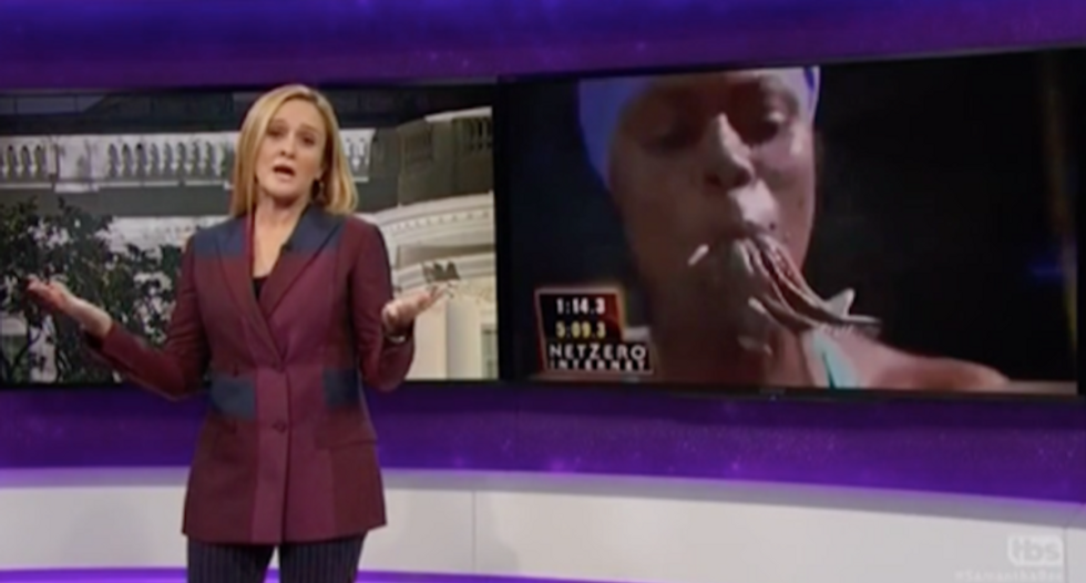 WATCH: Sam Bee issues brutal takedown of Trump's incredible 'chaos muppet' Omarosa