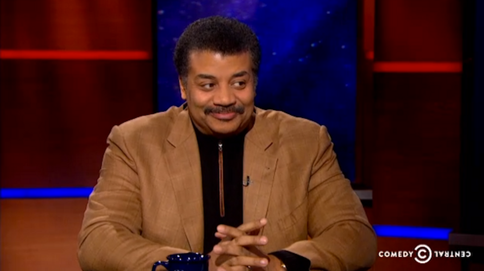 Neil deGrasse Tyson tells Stephen Colbert that science 'is true whether you believe in it or not'