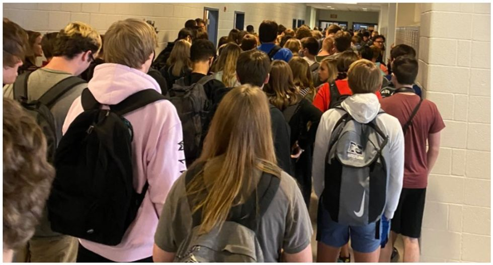 Students suspended after sharing photos of packed hallways at Georgia high school: report