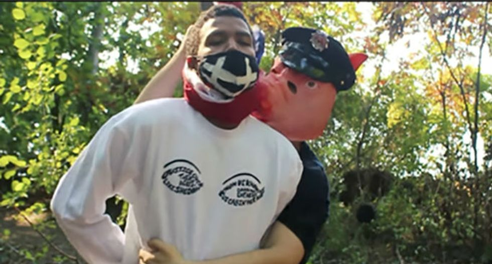 UW-Madison defends violent student video depicting cops in pig masks hanging a black male as 'free speech'