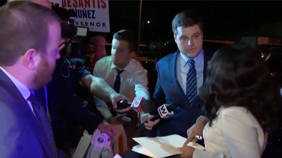 WATCH: MSNBC catches GOP congressman Matt Gaetz yelling at cops and elections officials in Florida