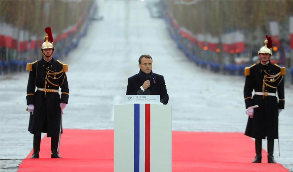 Macron leads global WW1 Armistice commemorations with shot at Trump over 'nationalism'