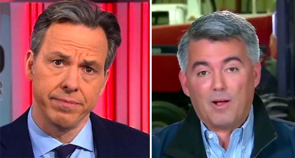 WATCH: GOP's Cory Gardner flames out after CNN's Tapper asks him for evidence of any Florida voter fraud