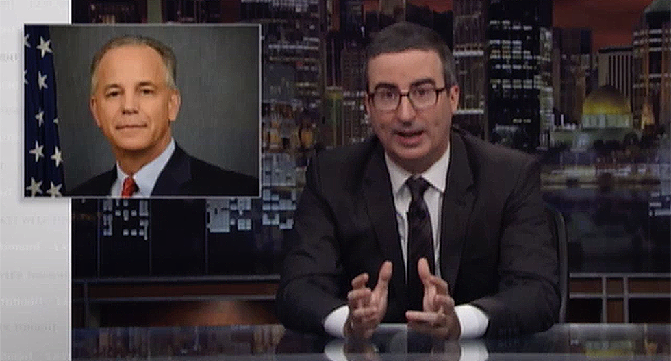 John Oliver broadcasts little known Trump official's cell phone number he openly gave to oil companies he's regulating