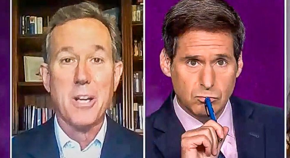 CNN host catches Rick Santorum blaming Obama: 'I'm giving you an opportunity to not be a hypocrite'