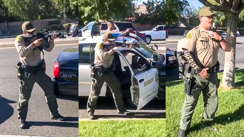 Video shows California cops pointing guns at Black teens who were being threatened by homeless man