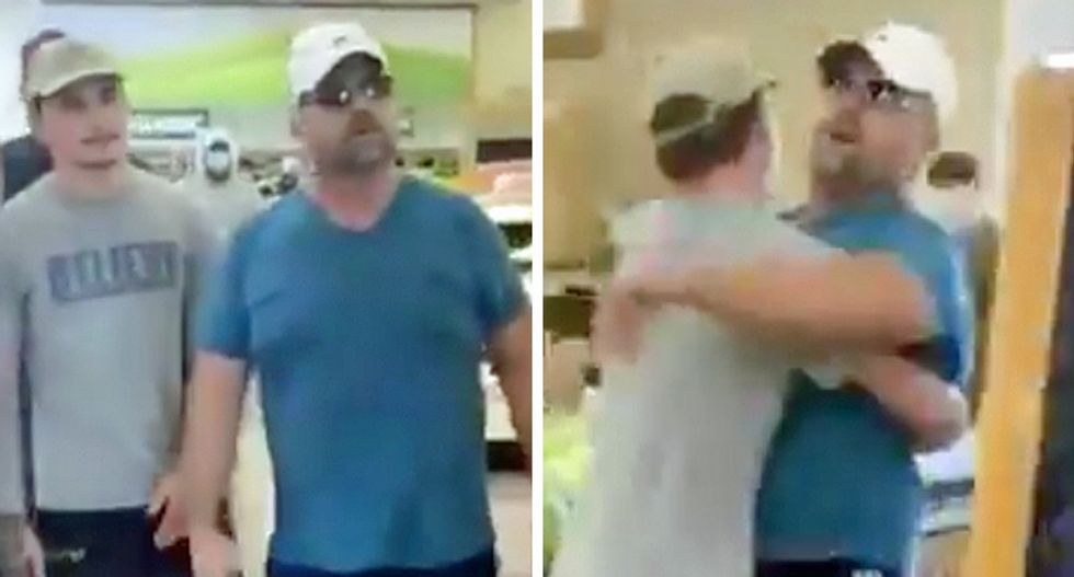 WATCH: Arizona man throws tantrum about masks — and his son has to pick him up and carry him out of the store