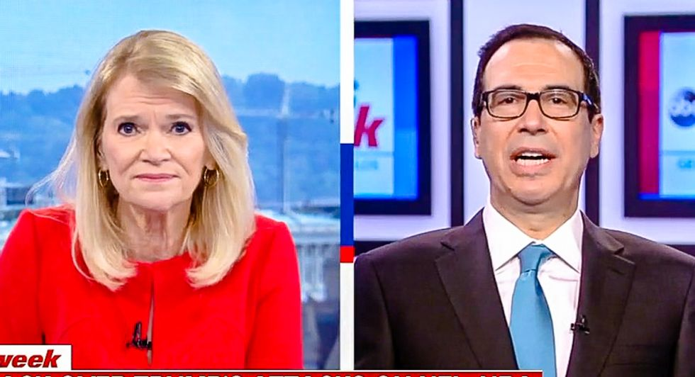 Mnuchin: Trump has right to curse out NFL players over anthem but they must 'do free speech on their own time'