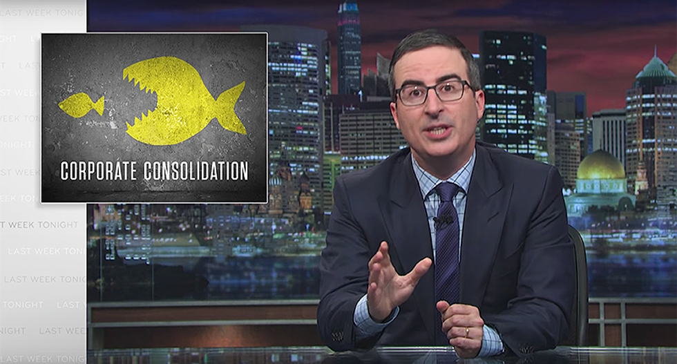 John Oliver blasts corporate mergers — starting with the 'sh*tty' company trying to buy HBO
