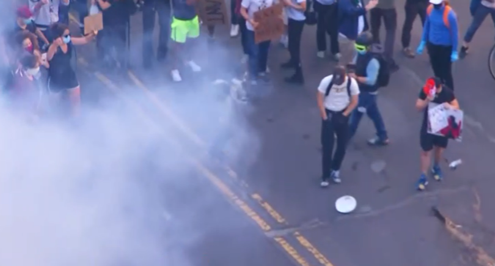 Trump campaign provokes outrage with demand that media stop saying protesters were tear gassed