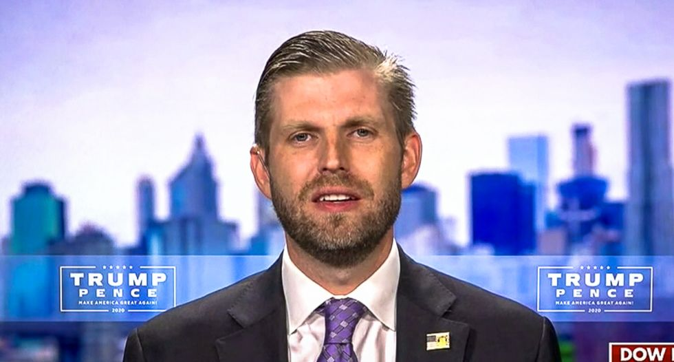 'Every day we get punched in the face': Eric Trump brags 'they hate us so much'