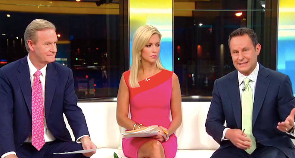 'Fox & Friends' host Ainsley Earhardt panics when co-host Brian Kilmeade slaps Trump over NFL tweets