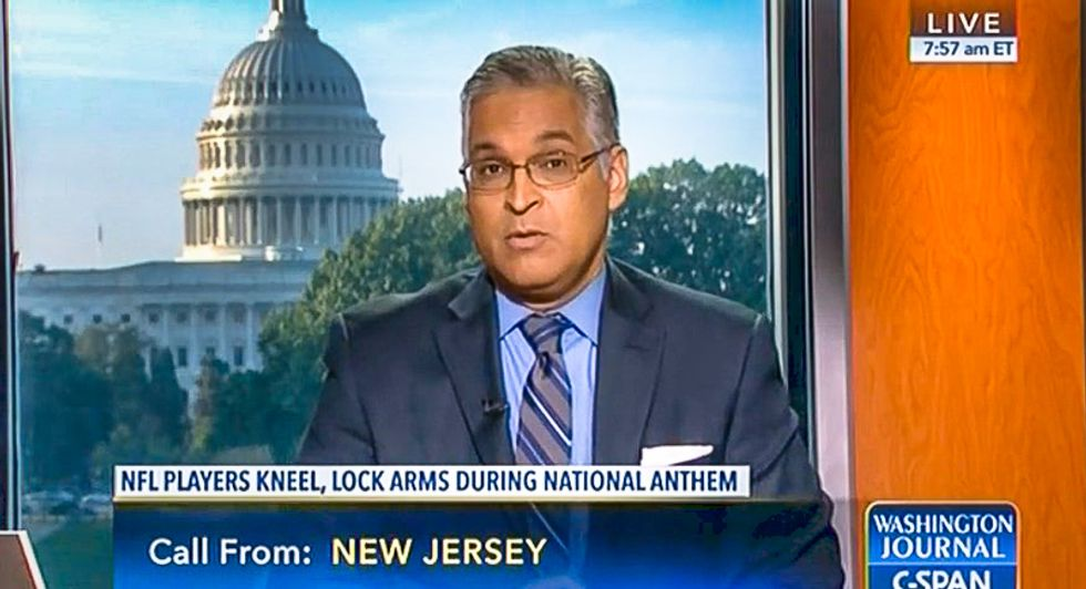'I just can't take the pain': C-SPAN caller bawls on air because NFL players kneeling 'hurts too much'