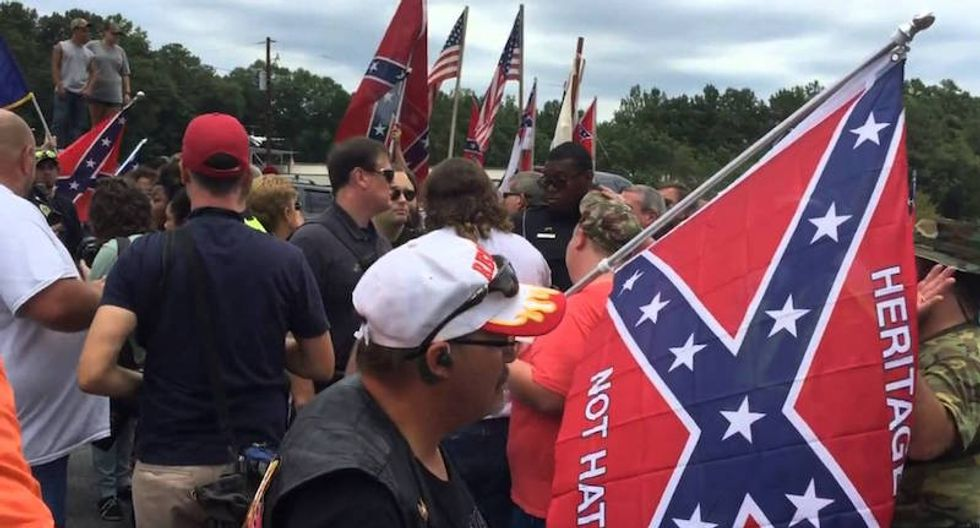 White supremacists barred from holding a rally at the country's largest Confederate monument during the Super Bowl