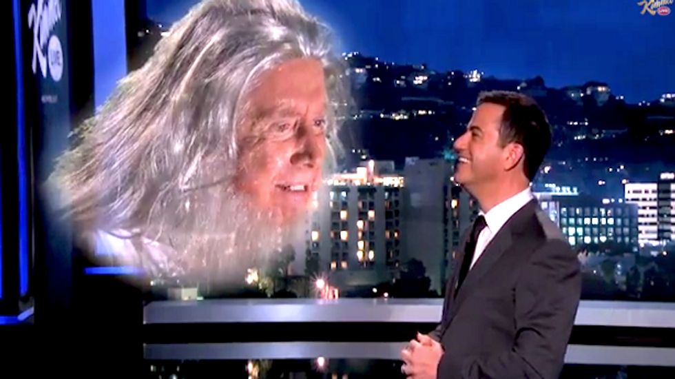 Jimmy Kimmel mocks creationists by asking 'God' about the Big Bang theory