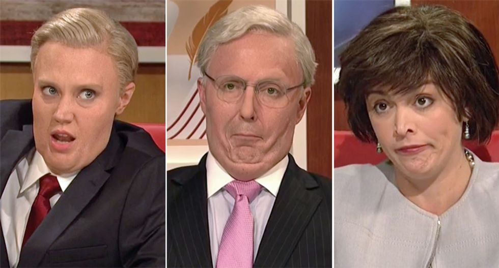 SNL rips Lindsey Graham and Mitch McConnell  and Susan Collins for hypocrisy on President Donald Trump