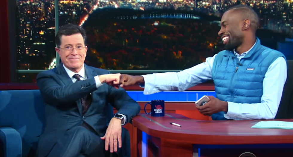 Stephen Colbert confesses to DeRay McKesson what white people fear about privilege — and it's perfect