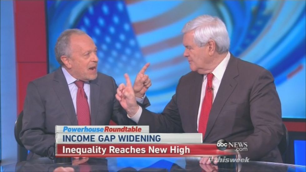 Robert Reich hammers Newt Gingrich after he blames Democrats for increasing poverty