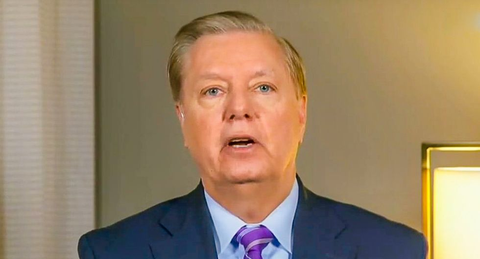 Lindsey Graham's challenge was accepted: Watch Chris Hayes deliver 9 'damning pieces of evidence'